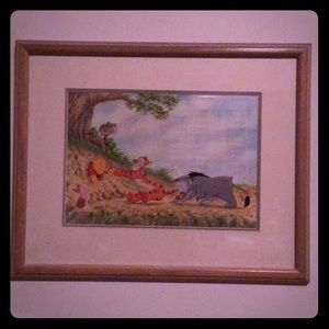 Winnie the Pooh and Friends framed portrait.